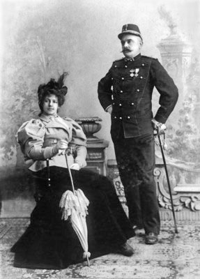 Margaretha Zelle and husband Rudolph MacLeod